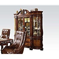ACME 60078 Winfred Hutch and Buffet China Cabinet, Cherry Finish