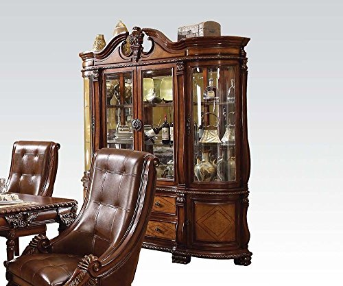 ACME 60078 Winfred Hutch and Buffet China Cabinet, Cherry Finish (Finish China Cabinet Cherry)