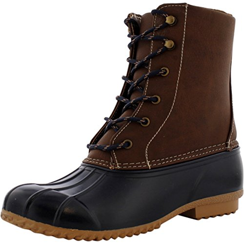 London Fog - Womens Snow Ll Boots - Navy / Brown