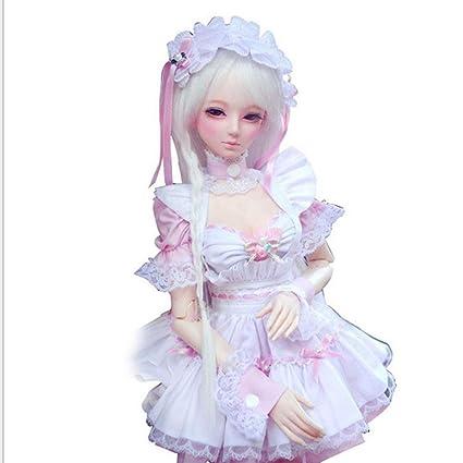 Amazon.com: Fityle Delicado Muñeca Maid Uniform Servant Ropa ...