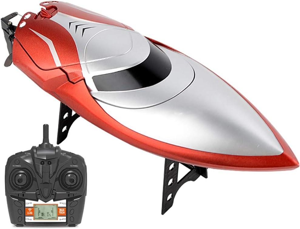 HZRKJ RC Remo de Alta Velocidad Barco de Control Remoto de Alta Velocidad 150 Metros lancha de Control Remoto con Pantalla LED: Amazon.es: Electrónica
