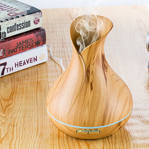 Essential Oil Diffuser, Lofoson 400ml Ultrasonic Aroma Essential Oil Cool Mist Humidifier with Adjustable Mist Mode Waterless Auto Shut-off for Home Office Living Room Baby Study Yoga Spa(7 Colors) by Lofoson (Image #7)