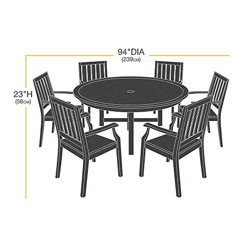 Amazonbasics funda protectora para juego de sillas y for Mesa redonda para 6 sillas
