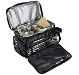 Image of TeiKis BBQ Grill Accessories Tool Set with Insulated Water Proof Cooler Bag