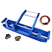 Integy RC Model Hop-ups C27117BLUE CNC Alloy Front Bumper w/ LED for Tamiya 1/14 King Hauler & Globe Liner
