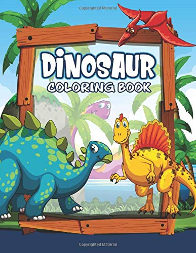 Dinosaur Coloring Book  Great Gift For Kids Boys And Girls