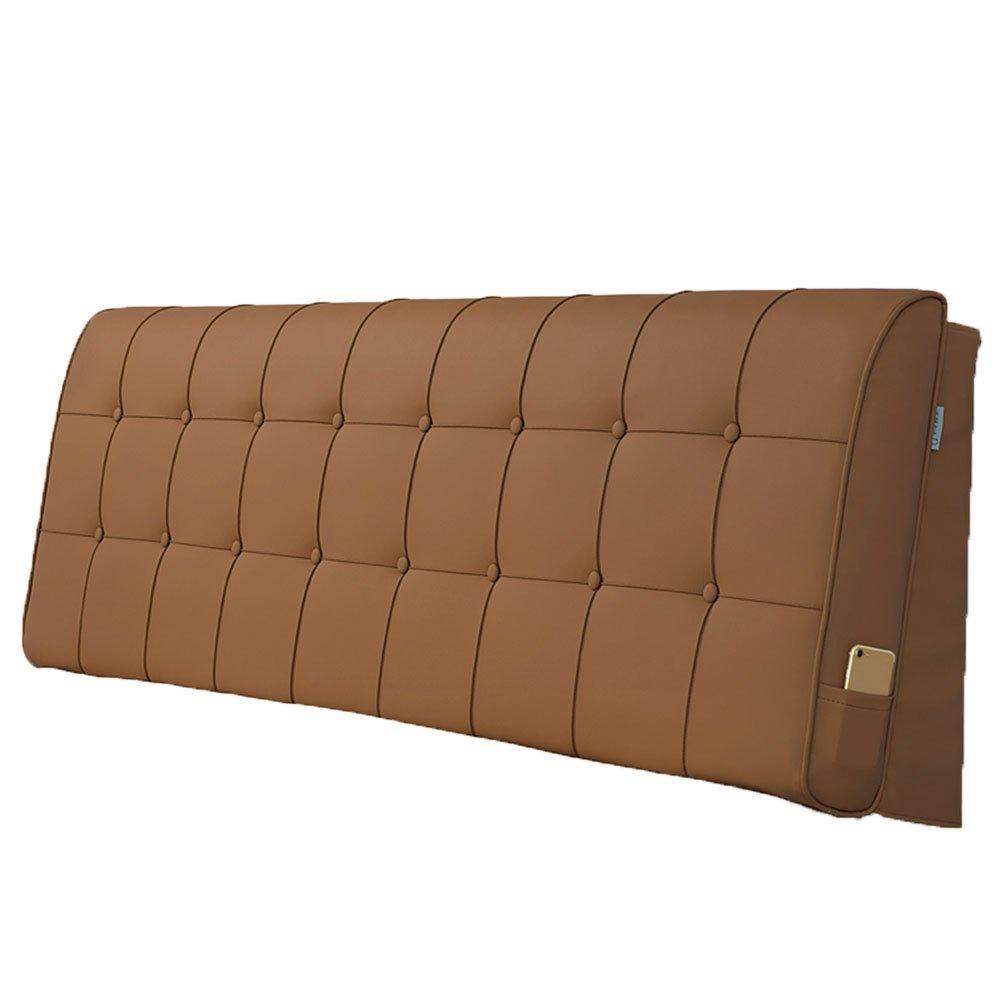 LIANGLIANG クッションベッドの背もたれ 二人の特別な大きい耐久性のある柔らかい洗え、5サイズ13色 (色 : Brown, サイズ さいず : Length 150cm) B07FQKT8BH Length 150cm|Brown Brown Length 150cm