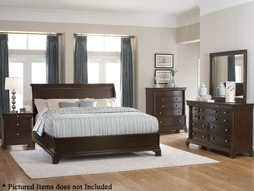 Inglewood Panel Bed (Inglewood 5 PC Queen Low Profile Bedroom Set with 2 Nightstand by Homelegance in Espresso)