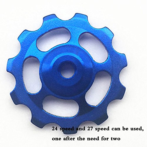 Alloy Road Wheels (Forfar 1Pcs 11 Tooth Bearing Jockey Alloy Wheel Pulley Solid Road For MTB BMX Mountain Road Bike Bicycle Cycling Derailleur gift)