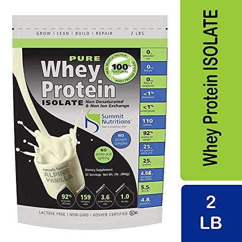 Non-GMO Pure Whey Protein Isolate: Instanized to Easy Mixing: Lactose Free: Kosher Certified: Naturally Flavored: Sweetened by Stevia: Gluten Free: Highest BCAAs and Glutamines: Zero Fat, Cholesterol, Carbohydrates, Fillers and Binders.