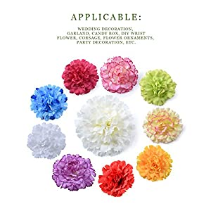 Sundlight Silk Cloth Carnation Flower Head Simulation Artificial Flowers for Wedding Party Home Decoration 2