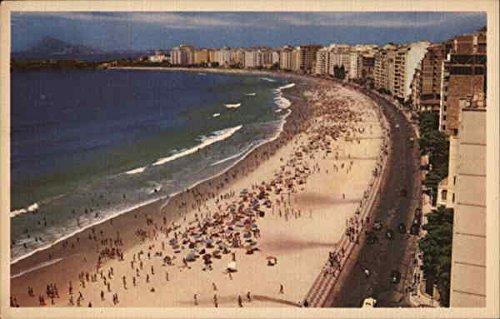 Copacabana Beach Rio de Janeiro, Brazil Original Vintage Postcard