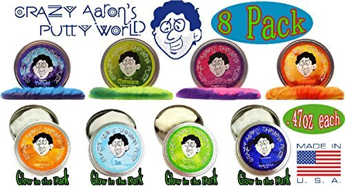 Crazy Aaron's Thinking Putty Mini Tin Complete Bundle Gift Set - 8 Pack by Crazy Aaron's