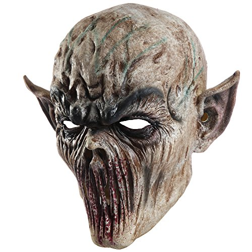 Scary Sheep Mask (Halloween Zombie Head mask Scary Death Cosplay Evil Prop Alien Bloody)