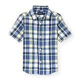 The Children's Place Boys' Big Short Sleeve Uniform Oxford Shirt, Sundance 3860, L (10/12)