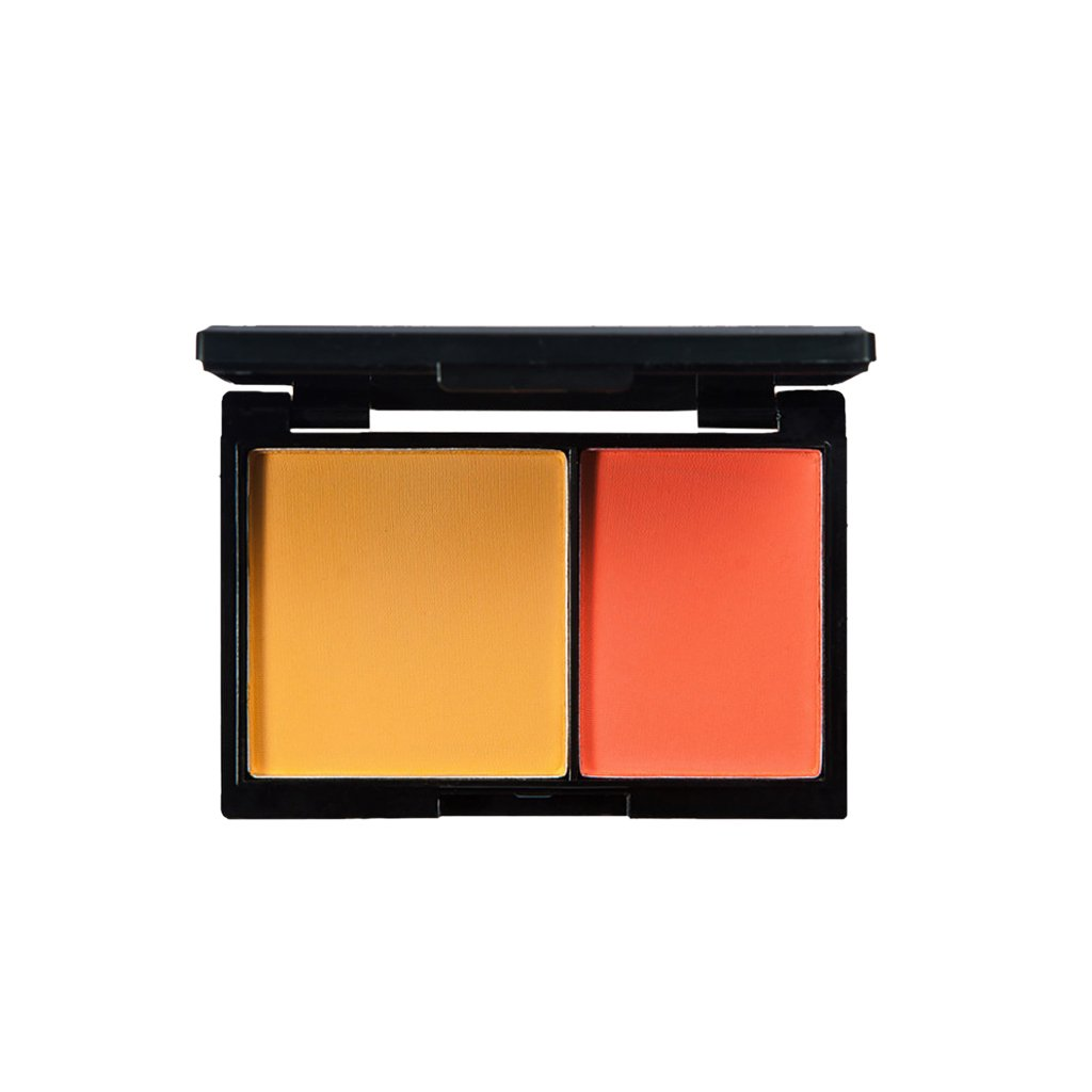 MagiDeal 2 Shades Natural Matte Cosmetic Blush Palette Face Cheek Contour Makeup Blusher Pressed Powder Pigment Set with Mirror - #2, as described