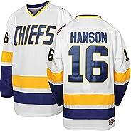 Hanson Brothers Charlestown Chiefs 16 Jack 17 Steve 18 Jeff Slap Shot Movie Hockey Jersey Blue