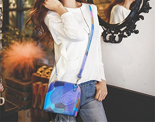 Small Bag blue Women's tote messenger Shell bag Necessities Bag Shoulder Fashion single Stitching Woman NVBAO Czqwfw4