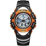 Kids Watch,Boys Girls,Children's Day,Outdoor,Multifunction Digital LED Waterproof Sport Watch (Orange)