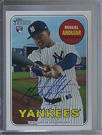 Amazoncom Miguel Andujar Baseball Card 2018 Topps Heritage High