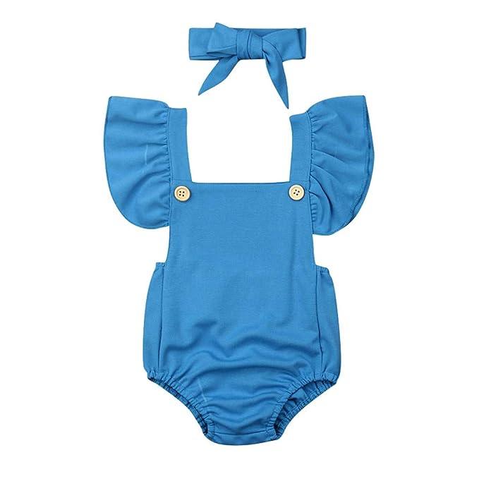 MAYOGO 2019 Ropa Bebé de Verano Niña Bodies Impresión de ...
