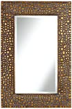 Noble Park Textured Relief Bronze 24″ X 36″ Wall Mirror For Sale