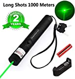 6. Green Laser Pointer Tactical Hunting Rifle Scope Sight Laser Pen, Demo Remote Pen Pointer Projector Travel Outdoor Flashlight, LED Interactive Baton Funny Laser Toy