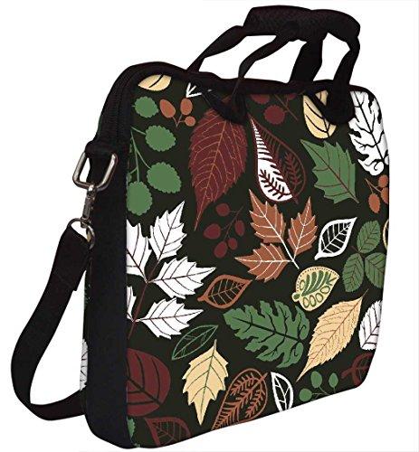 Snoogg gefärbte Blätter 30,5cm 30,7cm 31,8cm Zoll Laptop Notebook Computer Schultertasche Messenger-Tasche Griff Tasche mit weichem Tragegriff abnehmbarer Schultergurt für Laptop Tablet PC Ultraboo