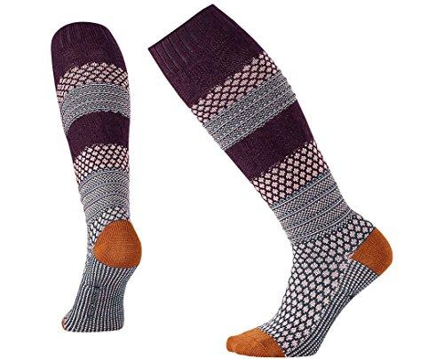 Smartwool Women's Popcorn Cable Knee High Socks (Bordeaux Gray) ()