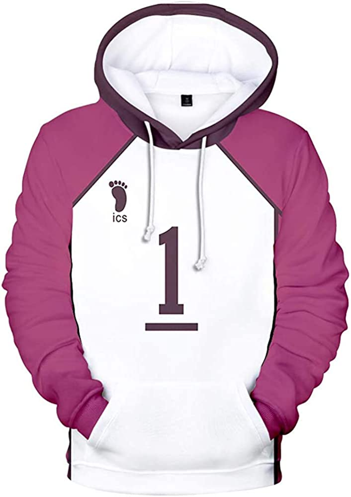 Haikyuu Oikawa Tooru Cosplay Hoodie Print Sweatshirt Pullover Coat Suit