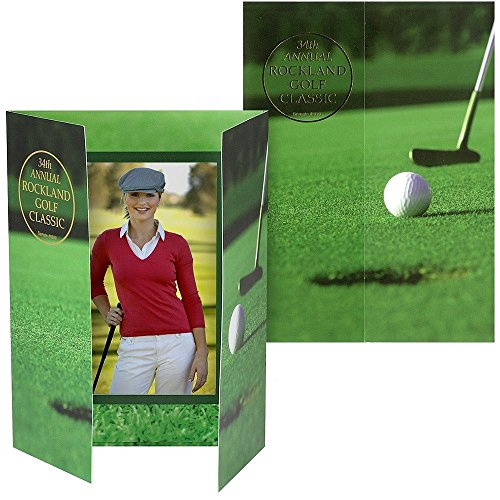Golf gate-fold event 4x6 photo folders sold in 25s - 4x6