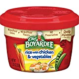 chicken and rice bowl - Chef Boyardee Rice with Chicken & Vegetables, 7.25-Ounce Microwavable Bowls (Pack of 12)