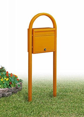 YKK ポスティモ 郵便ポスト (1Aセット)前入れ後ろ出しタイプ ネームプレート別 送料無料 格安 (オレンジ) B071KP5LT7 オレンジ オレンジ