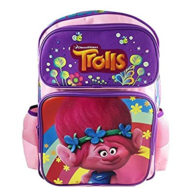 """New Dreamworks Trolls Poppy 16"""" Light Pink Large School Backpack Book Bag: Computers & Accessories"""