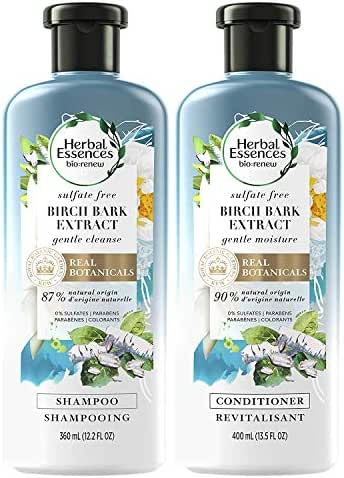 Shampoo & Conditioner: Herbal Essences Bio:Renew Birch Bark Extract