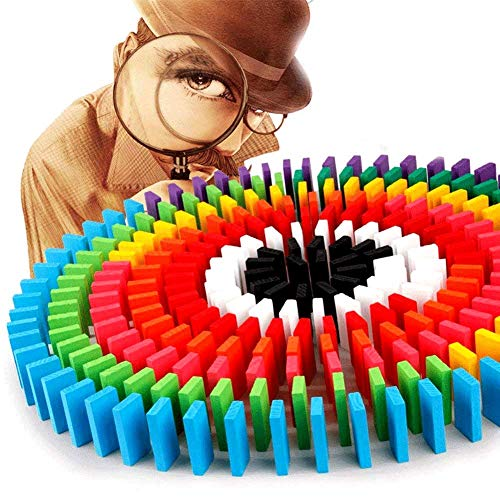 Super Domino Blocks Set, 360 PCS Colorful Woode...