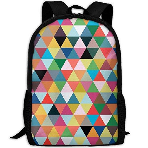 Markui Adult Travel Hiking Laptop Backpack Geometry Pattern School Office Multipurpose Zipper Bags Fashion Durable Daypacks