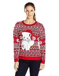 Blizzard Bay Women's Fair Isle Kitty Ugly Christmas Sweater