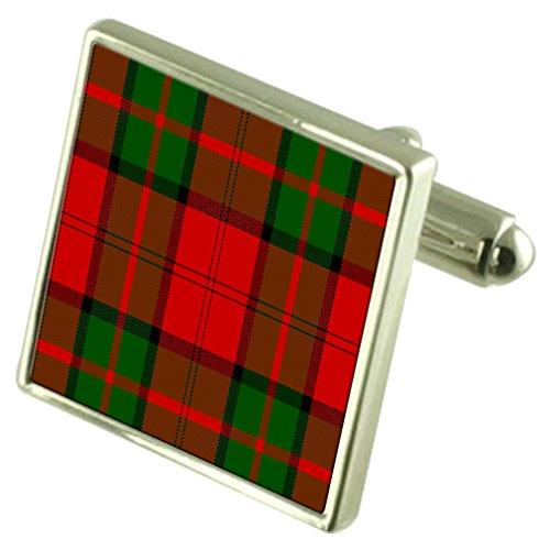 Clan Tartan Dunbar Sterling Silver Cufflinks