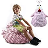 Taylor Gre Large Stuffed Animal Storage Chicken Bag Chair,Unisex, Multipurpose Storage, Perfect Decorative Kid's Room