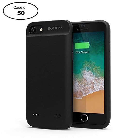 Amazon.com: ROMOSS - Funda de batería para iPhone 7 de 2800 ...