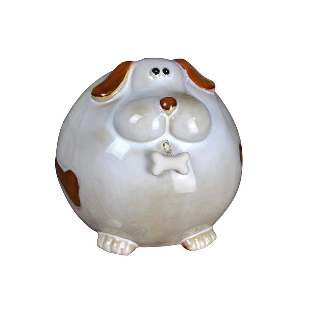 ADbox Ceramic Piggy Bank Coin Storage, Money Box Dog Gifts for Children Friends, Also Ornaments for Room Decorations by ADbox