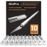 Nicpro 10 PCS Precision Cutter Hobby Knife Set, Exacto Refill Craft Art Knife Kit Cutter for Art, Hobby, Scrapbooking,Stencil