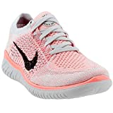 NIKE Women's Free RN Flyknit 2018 Running Shoes (6, Red/Black)