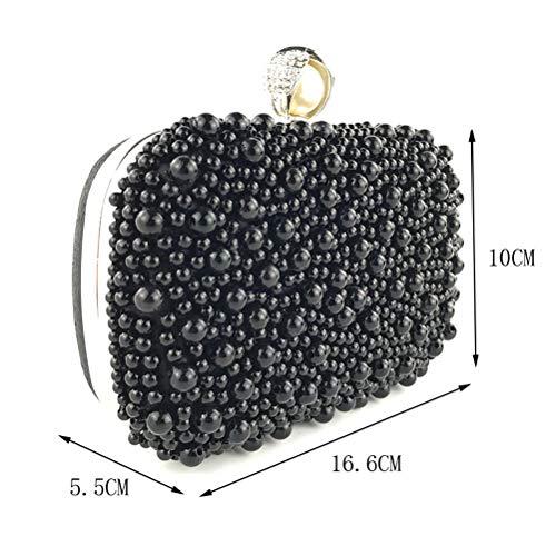 Rose Pochettes en Perles Noir À Bag Perlés Femme Main Qualité Haute Sacs Soirée Luxe De Monnaie De Sac Porte De De Gshe n0wqxZ1Uax