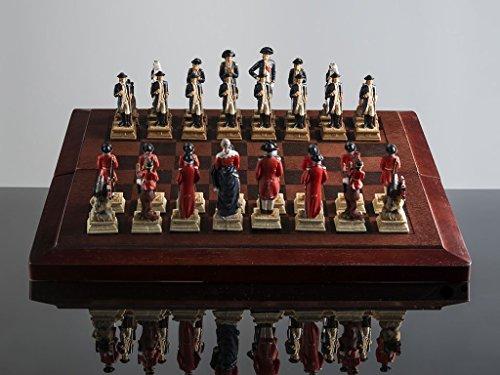Hand Painted Revolutionary War Chess Set