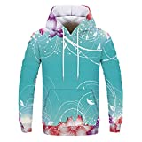AMSKY❤Women Autumn Winter Hoodie Sweatshirt Casual Print Long Sleeve Hooded Pullover Blouse Tunic Tops