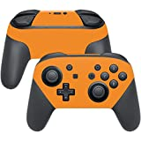 MightySkins Protective Vinyl Skin Decal for Nintendo Switch Pro Controller wrap cover sticker skins Solid Orange