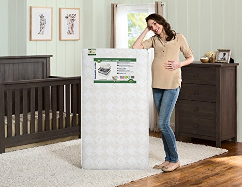 Serta Tranquility Eco Firm Innerspring Crib and Toddler Mattress | Waterproof | GREENGUARD Gold Certified (Natural/Non-Toxic)