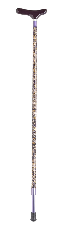 サンビーム CH324 イージーフィット アルミ製4段折ステッキ(下部可動式) 手元木製新型(赤) 白×ピンク花 B01FBH0NMQ 白×ピンク花|手元木製新型 白×ピンク花